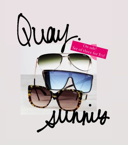 Quay Australia sunnies! A great deal. This set of three for $75! One pair usually costs around $60!   Great gifting set!  #LTKsalealert #LTKunder100