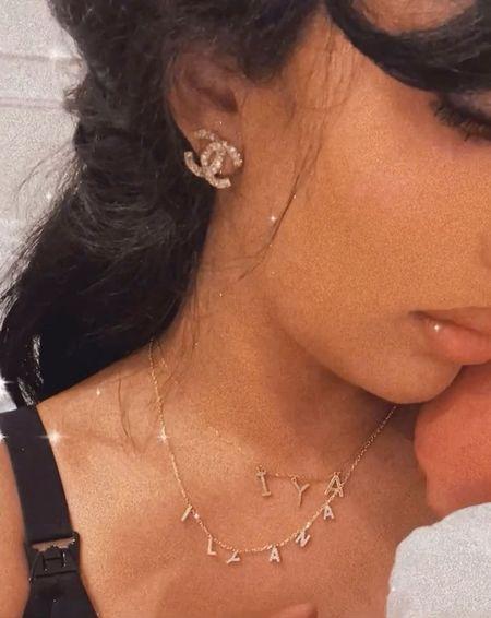 Nameplate necklace pave adina's jewels   #LTKHoliday #LTKGiftGuide #LTKbaby