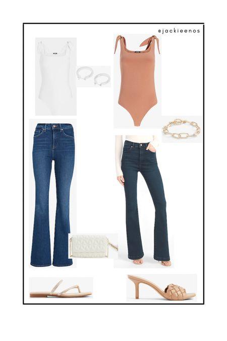Express style jeans/ bodysuit / summer shoes http://liketk.it/3hgYt #liketkit @liketoknow.it #LTKDay #LTKshoecrush #LTKworkwear