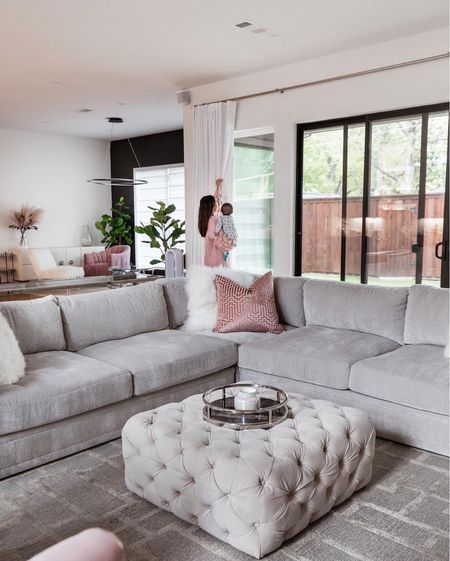 Hey friends, @nextwithnita again and welcome to our living room!! We went with more chic modern in this room but I can tell you one thing for sure - this couch is the comfiest couch you'll ever sit on!!! Ours is in shade opulent polar 🤍 what color is your couch?! #LTKTuesdayTakeover  #LTKhome