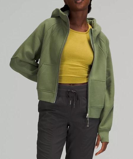 Anyone else as obsessed with the newest color of the lululemon Scuba Oversized Full Zip as I am?! Hello, Green Twill, welcome to my shopping cart!   I've also tagged a few of my other personal favs that I highly recommend (and own multiple colors in) for you to check out!   #LTKfit #LTKstyletip #LTKcurves