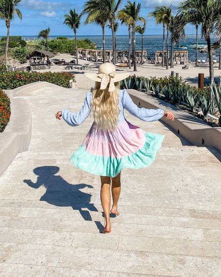 Cover up, pastel dress, wedding guest dress, beach style, summer style, summer dress, vacation outfit, sun hat http://liketk.it/3etNd #liketkit @liketoknow.it #LTKswim #LTKtravel #LTKsalealert