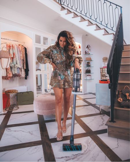 http://liketk.it/3iLJn #liketkit @liketoknow.it Floral Romper, Clear wedges, most comfortable wedges, flattering shoes, flattering wedges, Emily Ann Gemma, summer outfits