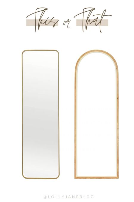 Which mirror fits your vibe?✨  #liketkit  @shop.ltk http://liketk.it/3kVUr   Lolly Jane Blog | #LollyJaneBlog  #LTKunder50 #LTKhome #LTKunder100
