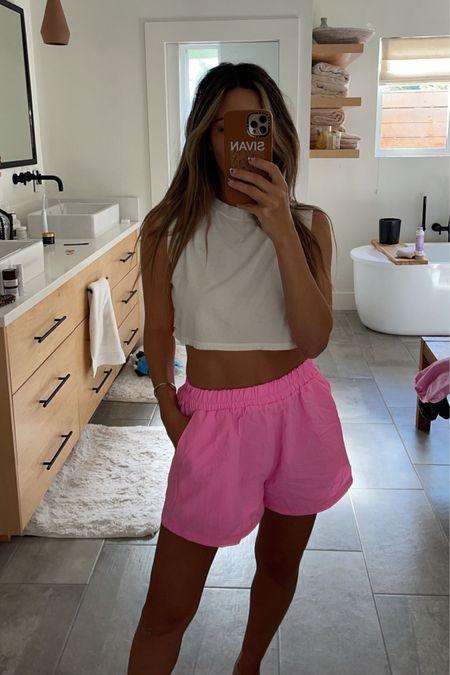 hot pink shorts http://liketk.it/3l1Kt #liketkit @liketoknow.it #LTKunder50 #hotpink