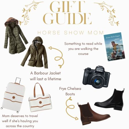 Gift guide for Mom! My mom is a horse show mom. She travels, lives outside, and ensures as much as I do! For Christmas try a durable Barbour jacket or Chelsea boots by Frye. Every influencer owns a Delaeh luggage set! Try a dslr camera ! http://liketk.it/31DFR #liketkit @liketoknow.it #LTKgiftspo #LTKFall #LTKfamily @liketoknow.it.brasil @liketoknow.it.europe @liketoknow.it.family @liketoknow.it.home Shop your screenshot of this pic with the LIKEtoKNOW.it shopping app