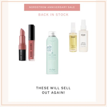 Back in stock! HURRY bc these will sell out again. Dry shampoo, Bobbi brown lip gloss duo and Ouai hair set! http://liketk.it/2UfBt #liketkit @liketoknow.it #LTKbeauty #LTKsalealert #LTKunder50 Screenshot this pic to get shoppable product details with the LIKEtoKNOW.it shopping app