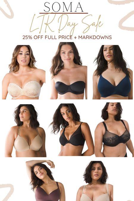 Soma LTK sale alert!! Get 25% off full price + lots of markdowns 🙌🏾🙌🏾 They have some of my favorite bras!   #LTKSale #LTKunder100 #LTKunder50