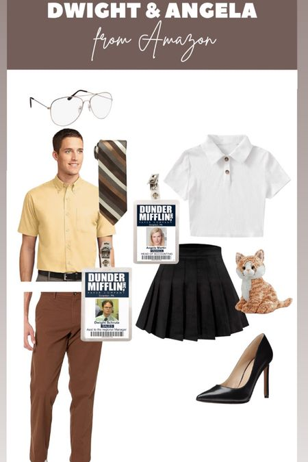 Dwight and Angela costume from Amazon