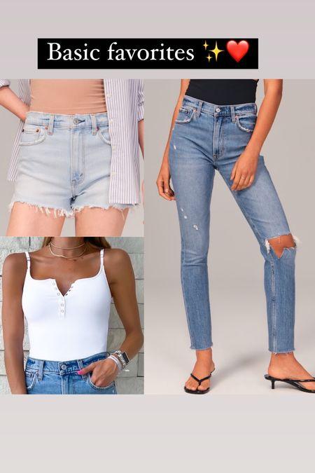 Jeans on sale in 24s denim shorts in 24 bodysuit in xs   #LTKsalealert #LTKunder50 #LTKunder100