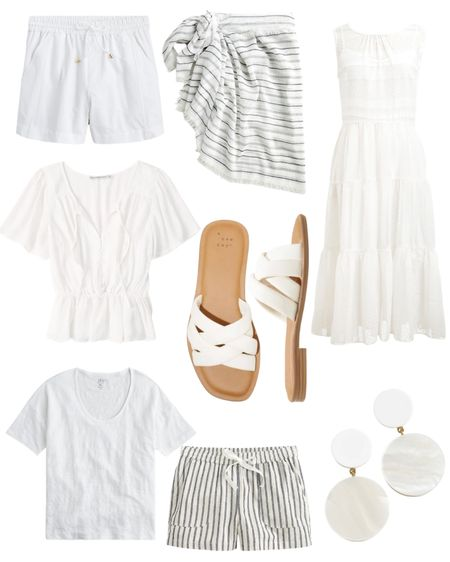 Shop Cool Summer Vibes: White is such a classic during the warmer months. Give me a cute white dress and some sandals and I am set. http://liketk.it/3eUbz @liketoknow.it #liketkit #LTKstyletip