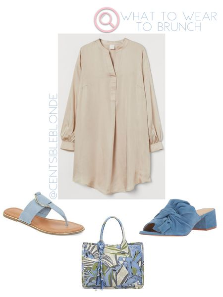Brunch outfit idea, long sleeve dress, v neck dress   http://liketk.it/3htTO #liketkit @liketoknow.it #LTKshoecrush #LTKstyletip #LTKtravel