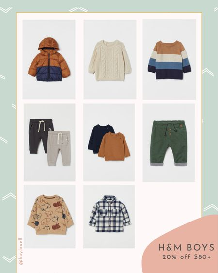The cutest fall boy clothes at H&M plus 20% off $80+  #LTKfamily #LTKkids