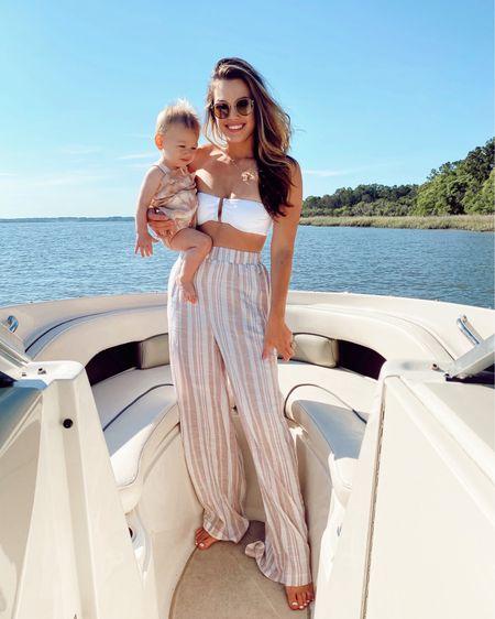 Boat babes 💕 So glad baby boy loves the water as much as his mama and daddy! http://liketk.it/3fOVg @liketoknow.it #liketkit #LTKtravel #LTKbaby #LTKunder100 #linen #beach #beachstyle #white #bikini #tiedye #babyboy #showmeyourmumu