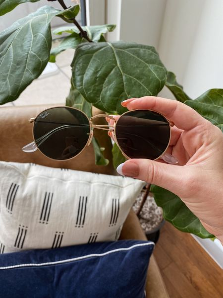 These Ray-Ban Icons 50mm round metal sunglasses are one of my most worn pairs and have held up so well over the years!   #LTKSeasonal
