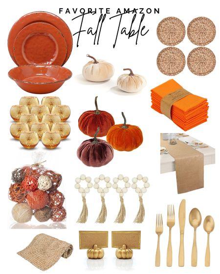 Favorite fall table items from #amazon  #LTKhome #LTKstyletip #LTKSeasonal