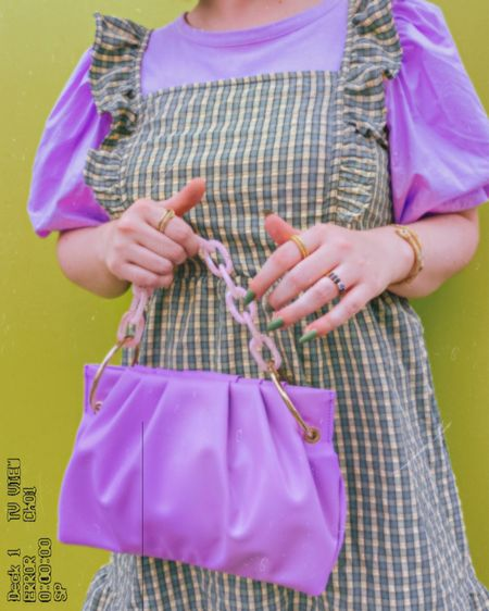 Linked similar items or the same ones in new colors for yall!   Purple was a hit on insta so if those items ever pop up again I'll be sure to update LIKEtoKNOW.it with them!   Truly starting to obsess over House of Want bags. I want another already 😅  #LTKstyletip #LTKcurves #LTKitbag