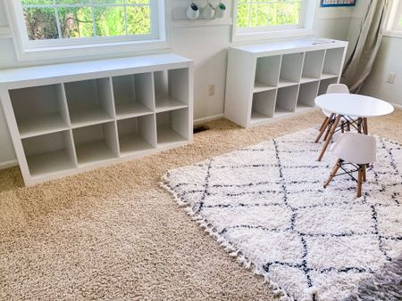 Kids home school learning and craft room. Cube shelves are great quality, we have had these two for a couple of years! Love the shag rugs and this sweet kids table and chairs too. #liketkit #StayHomeWithLTK #LTKfamily #LTKkids @liketoknow.it @liketoknow.it.home @liketoknow.it.family http://liketk.it/2QKTX You can instantly shop my looks by following me on the LIKEtoKNOW.it shopping app