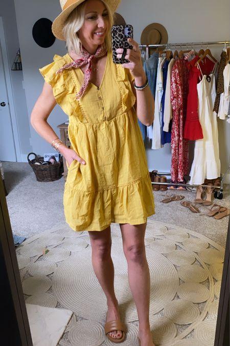 http://liketk.it/3gkX6 #liketkit @liketoknow.it  The perfect flutter sleeve dress for summer! I'm loving this yellow color! #LTKunder50 #LTKstyletip #LTKtravel