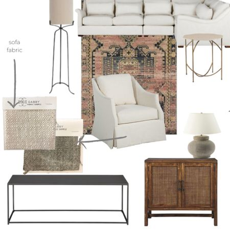 Sofa fabric - Zora Cream (performance fabric) by GABBY Swivel Chair fabric - Lenox Stone by GABBY Shop all other living room pieces here! http://liketk.it/2Niim #liketkit @liketoknow.it #StayHomeWithLTK #LTKhome