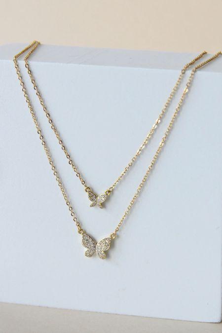 Dainty jewelry butterfly necklace   #LTKSeasonal #LTKHoliday #LTKGiftGuide