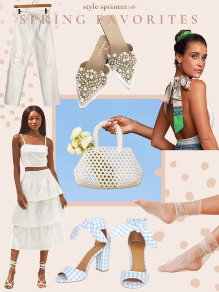 In my cart: spring fashion finds from Lulu's 🌸 Shop this white two piece, white jeans, and beaded bag: http://liketk.it/3dtOr #liketkit @liketoknow.it #LTKunder100 #LTKstyletip