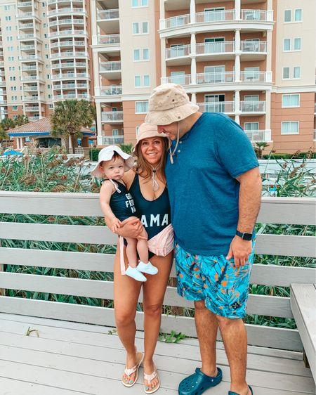 Matching family vacation. Bucket hat. Mommy and me. Family vacation. Beach vacation. Amazon finds. One piece swimsuit. Baby girl swim. Family matching. @liketoknow.it @liketoknow.it.family http://liketk.it/3huYo #liketkit #LTKswim #LTKfamily #LTKtravel