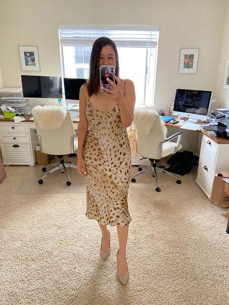 L'agence silk slip dress on sale. Summer dress. Spring dress. Super flattering and comfortable as usual! True to size.  #LTKwedding #LTKSeasonal #LTKsalealert