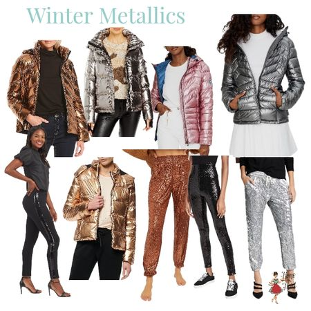 Warm things up with metallic jackets and joggers. These styles will positively warm up your party style. http://liketk.it/33Z4j @liketoknow.it #liketkit #LTKunder50 #LTKstyletip #LTKmetallics #LTKsequinjoggers Download the LIKEtoKNOW.it app to shop this pic via screenshot