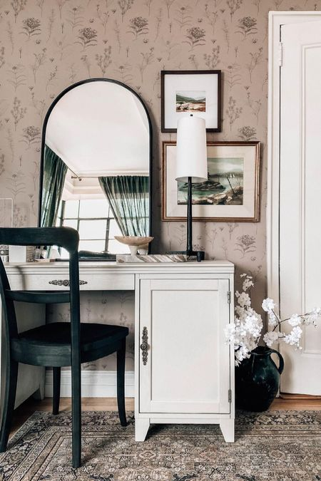 Bedroom Vanity that can double as a home office desk with storage (bedroom furniture)      #LTKhome
