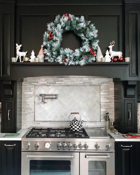 Looking back at last year's kitchen holiday decor in case anyone is shopping for Christmas decorations yet.   #LTKhome #LTKHoliday #LTKSeasonal