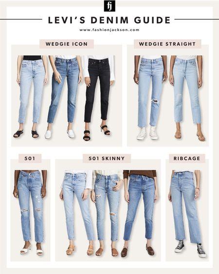 Shopbop sale! Levi's denim guide #jeans #levis   #LTKsalealert #LTKunder100 #LTKstyletip