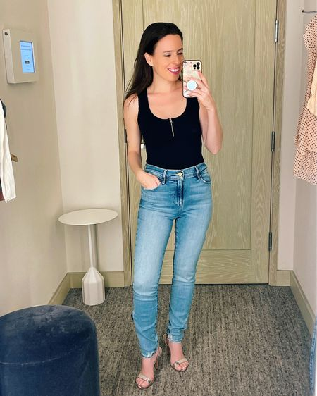 NSale, NSale 2021, NSale denim, Frame jeans, bodysuit,  Rounded up IN STOCK items in this post.   Full try-on on the blog, www.anaflorentina.com  #LTKsalealert #LTKunder50 #LTKunder100