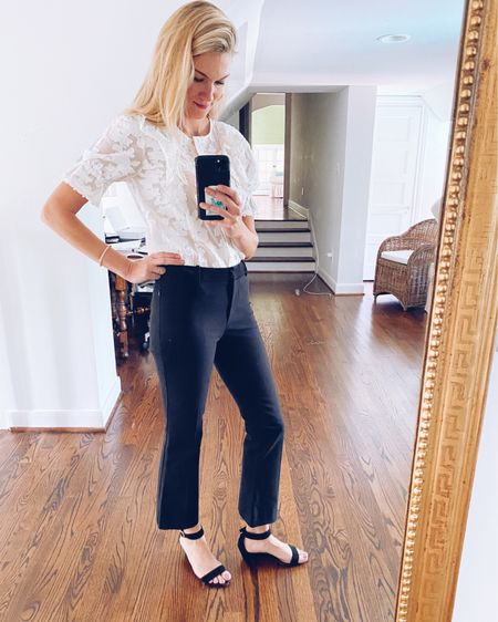 """I just found out that these amazing """"best selling"""" pants (according to the sales associate) are on MAJOR SALE! I'm finding that clients are needing more casual workwear clothes, and these pants are perfect for just that! They can be worn in the summer with sandals and just as easily in the winter with mules and a sweater. They have stretch and zip side pockets, which make them both flattering and comfortable!  http://liketk.it/3ipUQ #liketkit @liketoknow.it #LTKsalealert #LTKworkwear"""