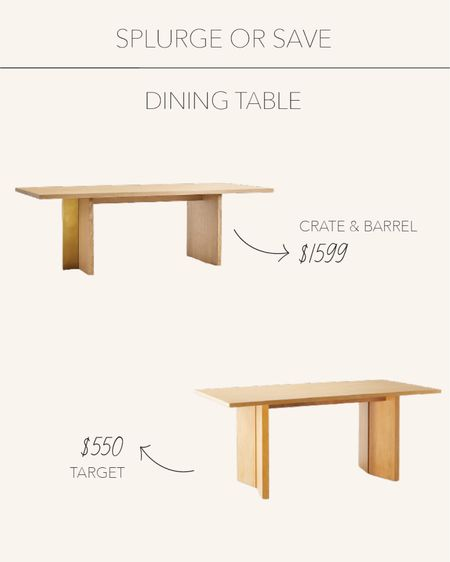 Splurge or Save | Natural wood dining tables perfect for entertaining  #LTKfamily #LTKstyletip #LTKhome