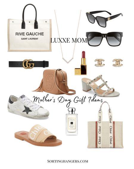 Mother's Day Gift Ideas for Luxxe Moms Tote bag | sunglasses | belt | sneakers | sandals | jewelry | perfume | lipstick    #LTKbeauty #LTKstyletip #LTKSeasonal