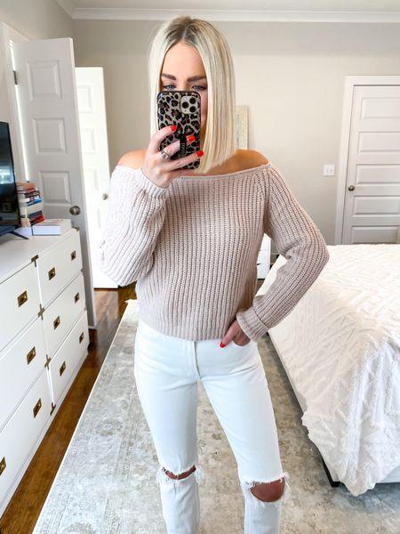 Off the shoulder sweater! 10% off with KELSIE10   #LTKSeasonal #LTKHoliday #LTKunder50