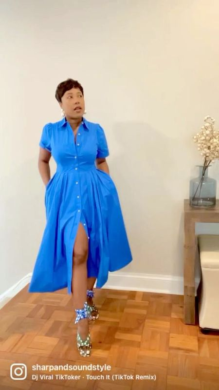 Seeing the new #targetstyle collection in motion hits differently! Blue button down shirtdress printed shirtdress floral shirtdress puff sleeve bow dress striped maxi dress floral maxi dress #competition  #LTKstyletip #LTKSeasonal #LTKunder100