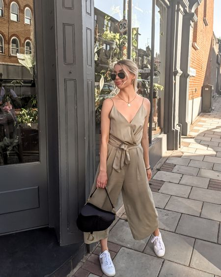 Today's look for Memorial Day / Bank Holiday ✨ linked versions of this cute light olive green jumpsuit under $100 and all of the accessories! #LTKstyletip #LTKunder100 #LTKworkwear http://liketk.it/3gysS @liketoknow.it #liketkit