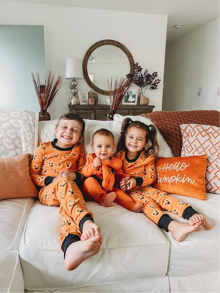 Loves these matching Halloween jammies for my little pumpkins this fall! 🎃 🎃🎃  #LTKfamily #LTKSeasonal #LTKkids