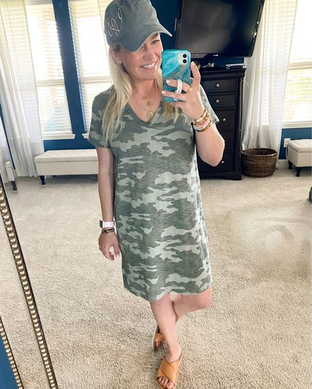 I can't give up a good camo number, especially at this price! I love dressing down a cute dress with a good ole cap and sandals. Perfect for this busy time of year!    http://liketk.it/3er5a #liketkit @liketoknow.it #LTKunder50 #LTKshoecrush #LTKstyletip