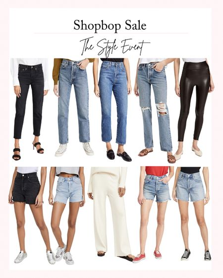 Shopbop Sale - The Style Event. Take 15% off $200+ with code STYLE. Fall fashion, fashion sale, women's jeans, fall shorts, fall denim, faux leather leggings   #LTKsalealert #LTKstyletip