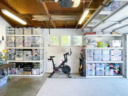 Weather tight storage containers are good for garage organization! #garage #totes #weathertighttotes #organization #storage