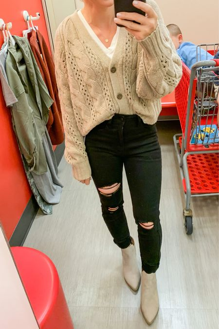 Target cardigan with black jeans. #fallstyle #targetstyle  #LTKunder50 #LTKsalealert #LTKstyletip