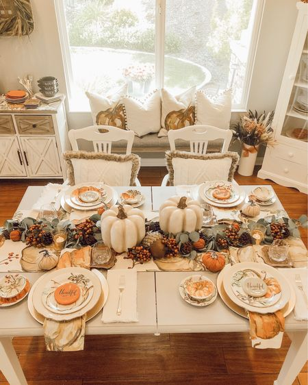 http://liketk.it/2FGgi My Harvest Pumpkin dishes and table linens from Pottery Barn are on sale! They also SHIP FREE 🙌🏻 with code: FALL  Create your own Fall tablescape by mixing a few accent pieces with your own dishes, like I've done here. You'll wow your guests at Thanksgiving by adding just a few of these gorgeous plates! -Tip: These salad plates also work great as dessert plates-😉 🍂🍁 #liketkit #LTKfamily #LTKhome #LTKsalealert #LTKstyletip #LTKunder50 @liketoknow.it.home @liketoknow.it You can instantly shop my looks by following me on the LIKEtoKNOW.it shopping app