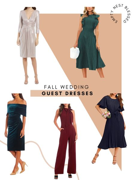 Fall wedding guest dresses, cocktail dress, wedding guest dress, dressy jumpsuit, green dress, fall date night outfit, holiday party outfits, Amazon dresses, Nordstrom dress, Dillards dresses    👗 There are some beautiful wedding guest dresses out this fall, that you can even wear for a winter wedding! Two were Amazon finds…can you guess which ones!?  #LTKSeasonal #LTKstyletip #LTKwedding