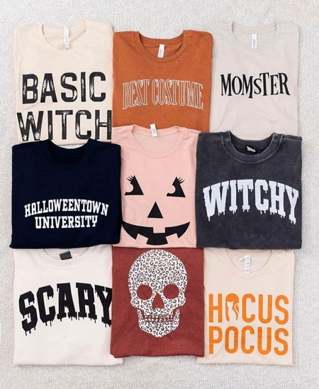 Halloween shirt and sweater cozy fall lounge style