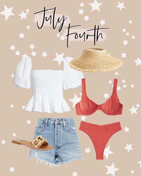 July Fourth outfit ideas! 🇺🇸❤️💙 http://liketk.it/3igN7 #liketkit @liketoknow.it #LTKswim #LTKunder50 #LTKtravel July 4th, Fourth of July, bikini