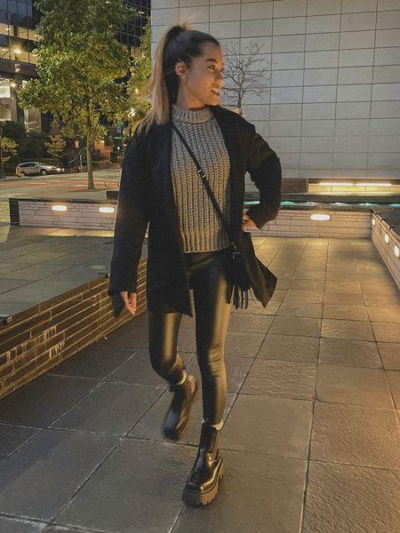 Chunky boots, blazer, sweater fall fashion  #LTKstyletip #LTKSeasonal #LTKGiftGuide