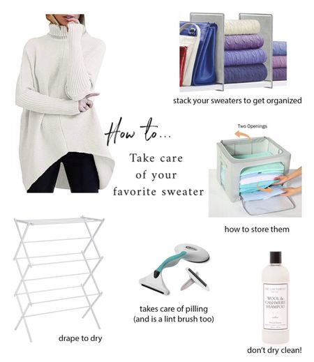 Get ready for fall and learn how to care for your favorite sweeter. Never hang, always fold. Store it in a sealed container storage. Hand wash instead of dry clean. Shave off pills to keep your sweater looking new.   #LTKSeasonal #LTKunder50
